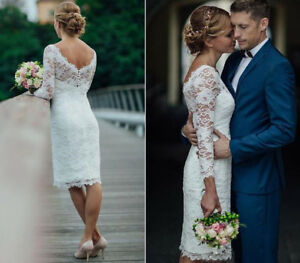 Image Is Loading 2018 Short Wedding Dresses Knee Length Simple White