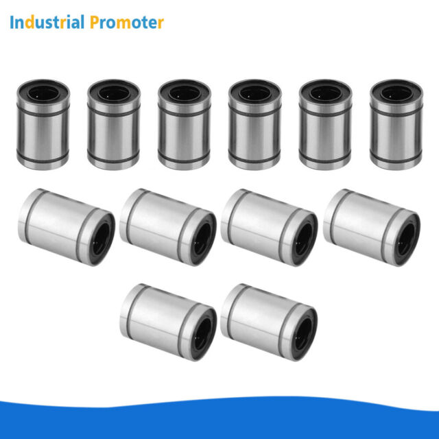 LM8//10//12//16UU Linear Bush Ball Bearing Bushing For 3D Printer Wheel Slider