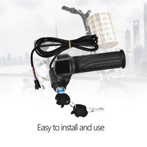 12-100V-Scooter-Electric-Bicycle-EBike-Throttle-Grip-Handlebar-LED-Digital-Meter