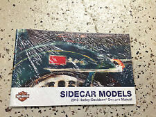 2010 Harley Davidson Sidecar Sidecars Owner's Operators Owners Manual NEW