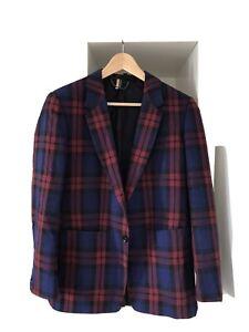 Topshop-SMART-Tartan-Suit-Blazer-Taglia-12-Womenswear