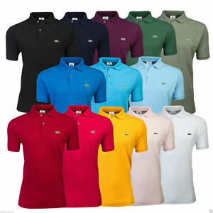 bc530beda Lacoste Men s L1212 Polo Shirt Cotton Classic Fit - All Colours ...