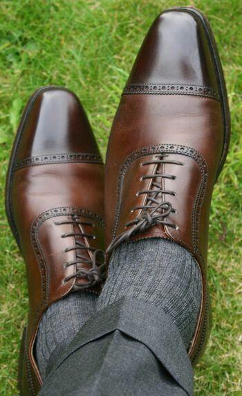 scegli il tuo preferito New Handmade Uomo Classic Brogue Style Style Style Leather scarpe with Cap Toe, Uomo dress shoe  in vendita scontato del 70%