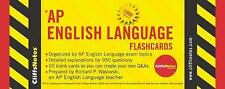CliffsNotes AP English Language Flashcards 850 Count Exams Topics Questions Test
