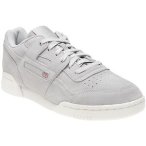 a495a53f3fc8 New Mens Reebok Grey Workout Plus Montana Cans Collaboration Suede ...