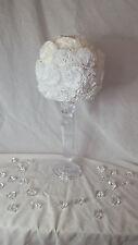 Árbol de Topiario De Perlas Blancas Clavel con, Bodas, decoración de mesa, centros De Mesa