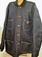 Vintage Barn Jacket DICKIES BLANKET LINED Work Ranch Farm Denim Jean Coat 2XL