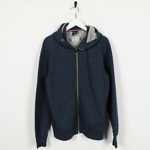 Vintage-CHAMPION-Big-Logo-Zip-Up-Hoodie-Sweatshirt-Navy-Blue-Medium-M