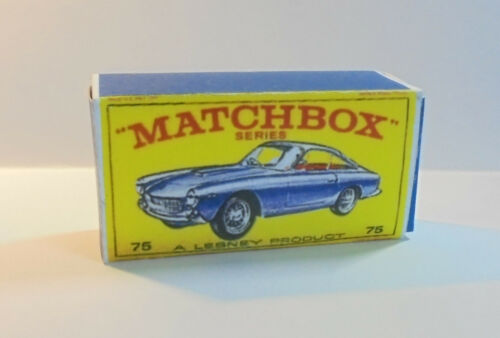 REPRO BOX MATCHBOX 1:75 n. 75 FERRARI BERLINETTA anziano BLU
