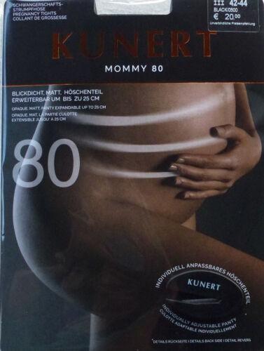 Strumpfhosen KUNERT Damen MOMMY 80 blickdicht matt Schwangerschaftsstrumpfhose