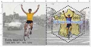 Timbre-Neuf-France-TTB-Centenaire-du-Tour-de-France-2003-N-3583-Eddy-Merckx