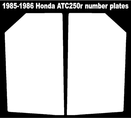 Rear fender decals for a 85-86 Honda ATC 250r 3-wheeler    ATC250r ATC 250r