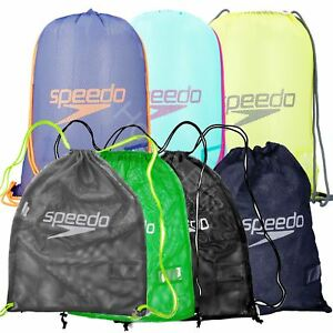 Speedo Drawstring Mesh Equipment Swimwear Pool Bag Swimming Gym New