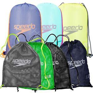 Speedo Drawstring Mesh Equipment Swimwear Pool Bag Swimming Gym New