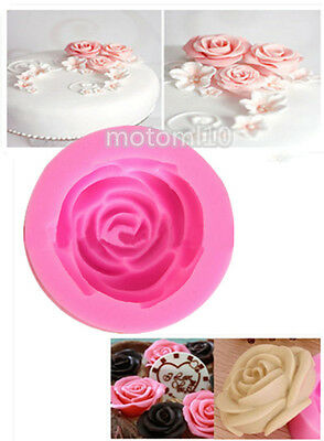 DIY Decorating 3D Rose Flower Silicone Cake Mold Fondant Chocolate Cutter Mould!