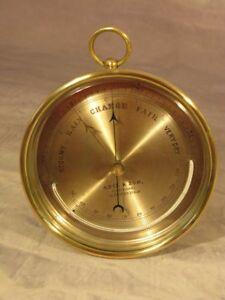 Antique Victorian Adie & Son Edinburgh Scotland Brass Marine Bulkhead Barometer Y9abv46G-09113006-284956890