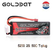 Goldbat 5200mah 50c 7.4v 2s Lipo Battery Hardcase Deans Plug for RC Car Truck