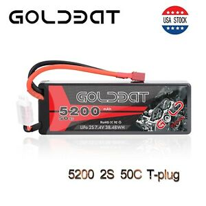 5200mAh-50C-7-4V-2S-LiPo-Battery-Hardcase-Deans-T-Plug-for-RC-Car-Truck-Buggy