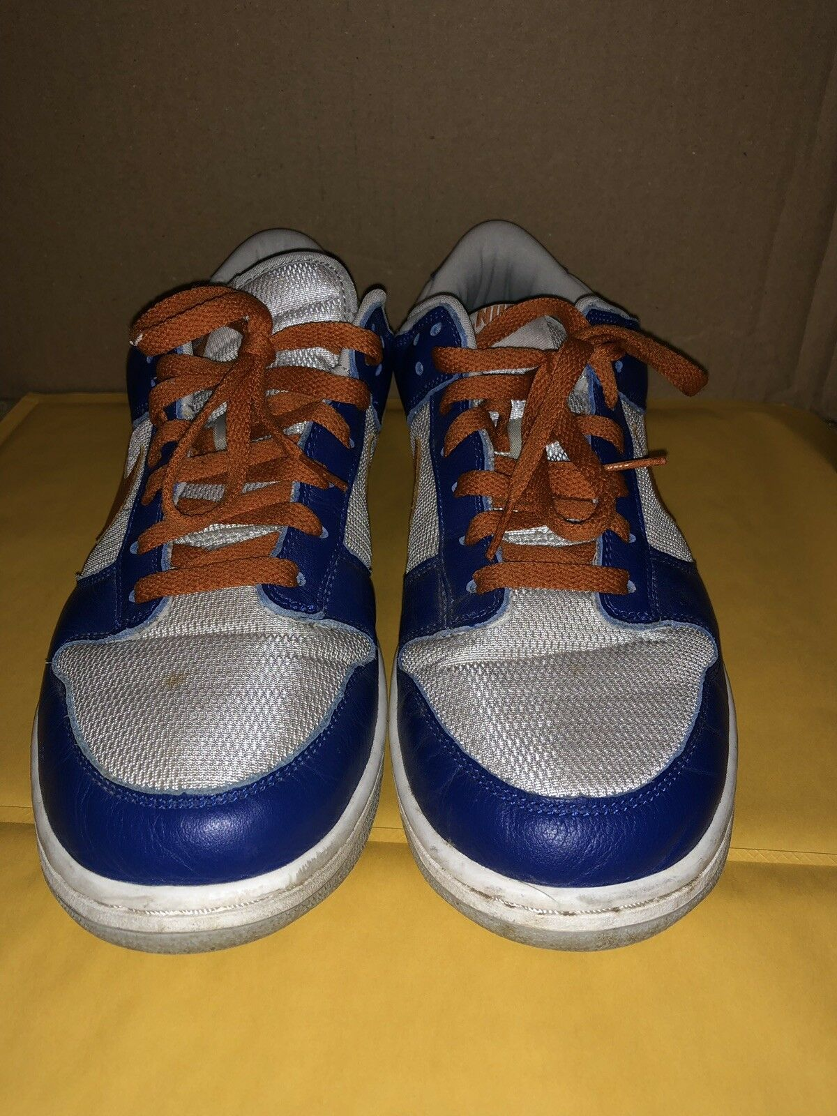 2003 Nike Dunk Low Pro NEW YORK NY KNICKS ROYAL blueE orange GREY 624044 11.5