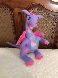 low price so cheap new images of Details about Mattel Barbie Kids Purple Pink Dragon Talking Plush Penelope  15