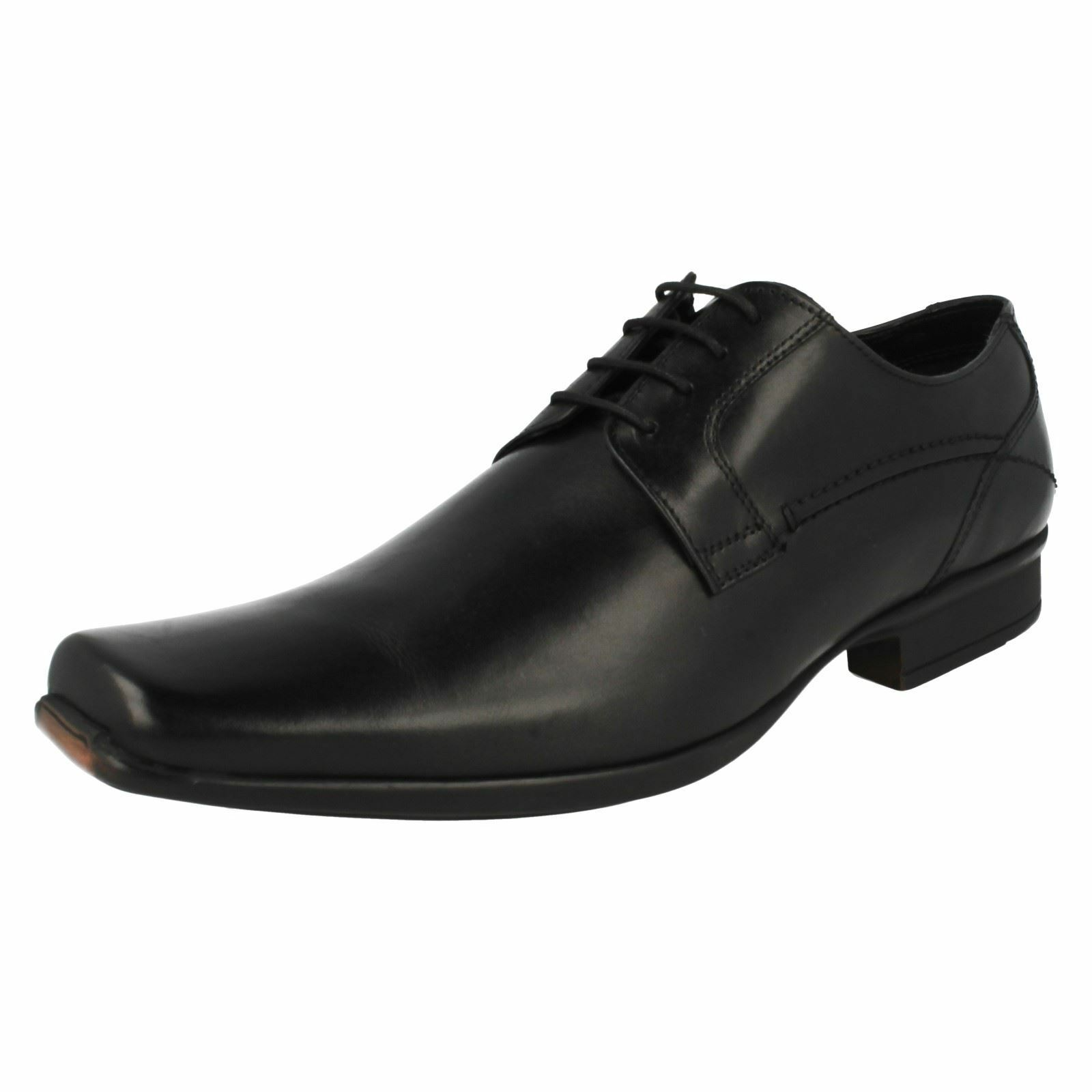 Herren Clarks ASCAR Walk schwarzes Leder Intelligente Spitzen sich Schuhe