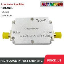 10m 6ghz Low Noise Amplifier Gain 30db High Flatness Lna Amp Rf Signal Driving