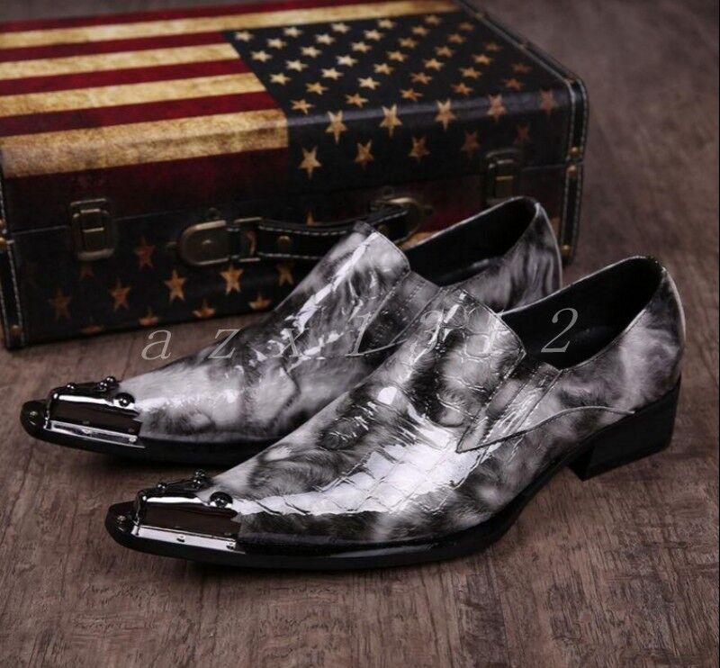 Hot Uomo Pelle Pointed Toe Dress British British British Stylish Wedding Low Heel Shoes Size 63d949