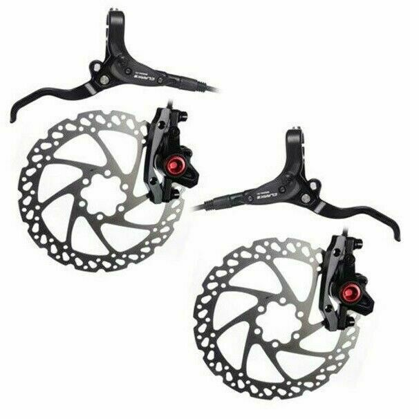 New Clarks M2 Hydraulic Disc Set Front /& Rear 160mm Mineral Oil Bike Cycle