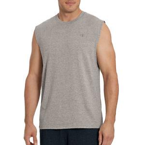456d29815d1b 2 Champion Men's Classic Jersey Muscle Tees T0222 L Oxford Gray | eBay