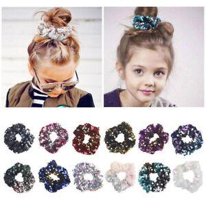 Fashion-Toddler-Girls-Sequin-Hair-Band-Rope-Elastic-Ponytail-Holder-Scrunchie