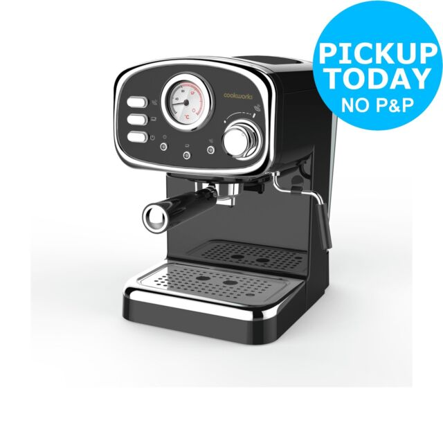Cookworks Espresso Coffee Machine With Frother Black