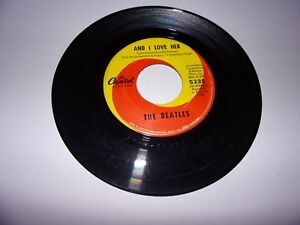 The-Beatles-And-I-Love-Her-If-I-Fell-45-Rpm-1964-Capitol-5235-VG-Oldies
