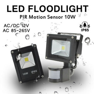 10W-LED-Flood-Light-12V-220V-110V-PIR-Motion-Sensor-Integrated-COB-Outdoor-Lamp