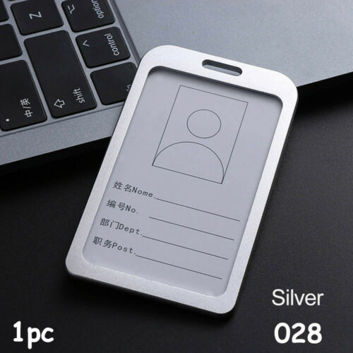 Lanyards Tag Aluminum Alloy ID Business Case Work Card Holders Name Card
