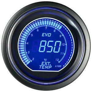 52mm-Autogauge-Digital-EVO-EGT-Gauge-RED-BLUE-LED-Exhaust-Gas-Temperature-Gauge