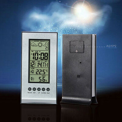 Brioso Station Météo D'intérieur Thermomètre Hygromètre Lune Prévisions Horloge Réveil Limpid In Sight