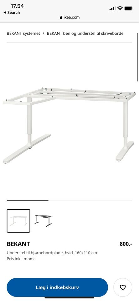 Skrive-/computerbord, Ikea