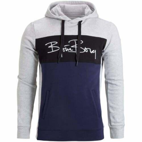 Navy//Black//Grey Colour Block Bjorn Borg Brushed Cotton Men/'s Tracksuit Hoodie