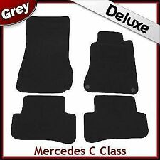 Tailored Carpet Mats LUX 1300g for MERCEDES C-Class W203 Saloon 2000-2007 GREY