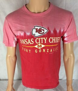 3f95f725d Kansas City Chiefs Tie Dye Tony Gonzalez T-shirt Medium Red Pink