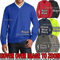 Mens Pullover Wind Shirt Jacket Sports Golf Water Resist XS-XL, 2XL, 3XL, 4X