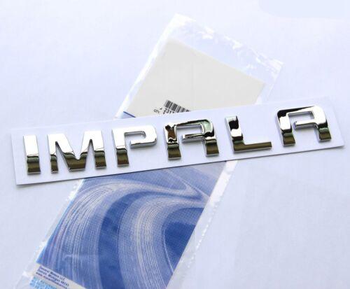1x OEM Chrome IMPALA EMBLEM Badge Nameplate Alloy Letter for GM Chevrolet LU YU