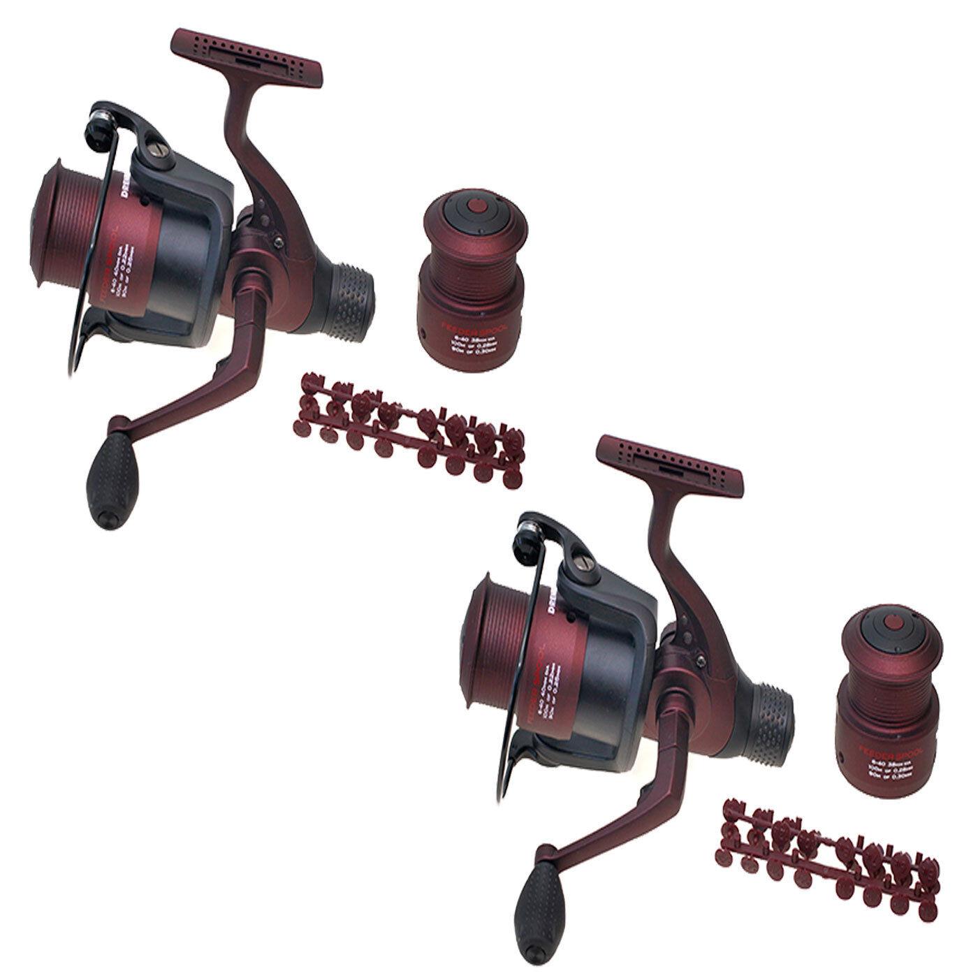 Drennan Red Range 6-40 Feeder Fishing Reels x 2 (Pair) Brand New FREE Delivery