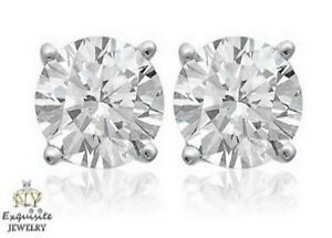 CERTIFIED-90ct-ROUND-CUT-E-F-VVS2-VS1-DIAMONDS-PLATINUM-STUDS-EARRINGS