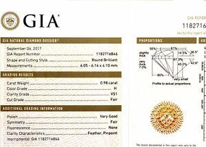 GIA-loose-certified-98ct-VS1-H-round-brilliant-diamond-estate-vintage-antique