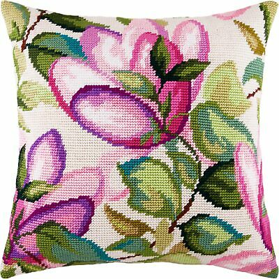 """Needlepoint//Tapestry Pillow Cover DIY Kit /""""Magnolia/"""""""