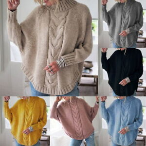 Pull-Femmes-Sweats-a-Cols-Rond-Manches-Longues-Confort-Sweat-Tricote-Casual