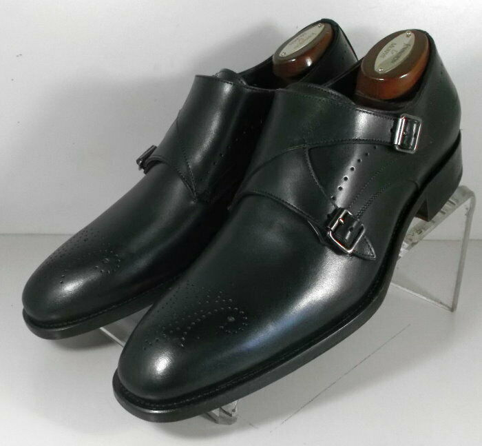 242751 MSi60 Men's Shoes Size 9 M Black Leather Made in Italy Johnston Murphy