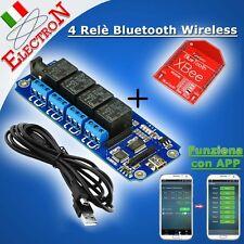 4 Relè Bluetooth Wireless 5V Relay Module -TELECOMANDO - BT remote Android iOS