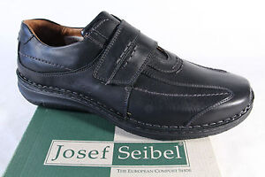 Josef-seibel-Slipper-Shoes-Sneakers-Trainers-Leather-Black-43332-New
